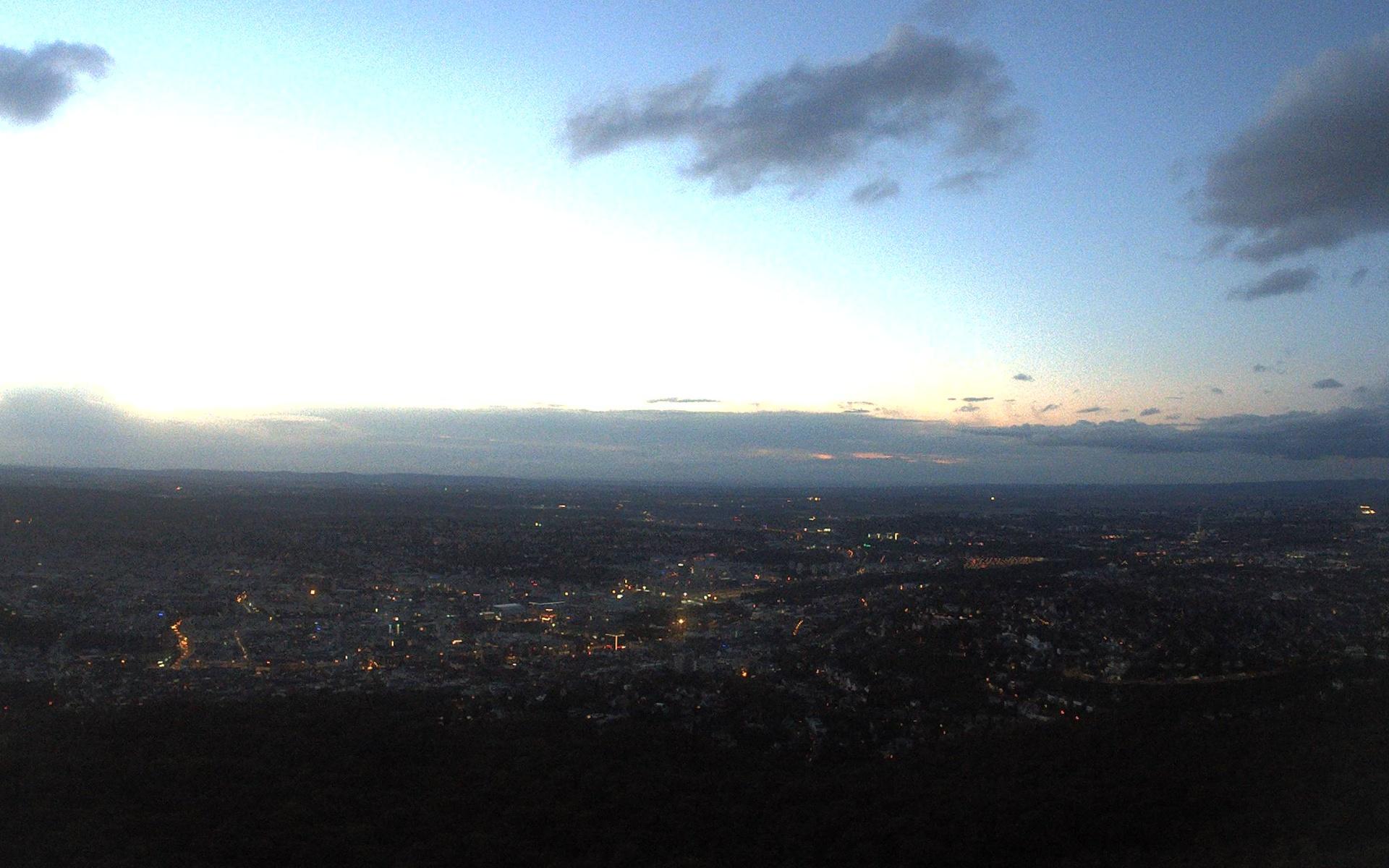 Stuttgarter Fernsehturm 217m (Aussichtsplatform 150m) Blick nach Norden