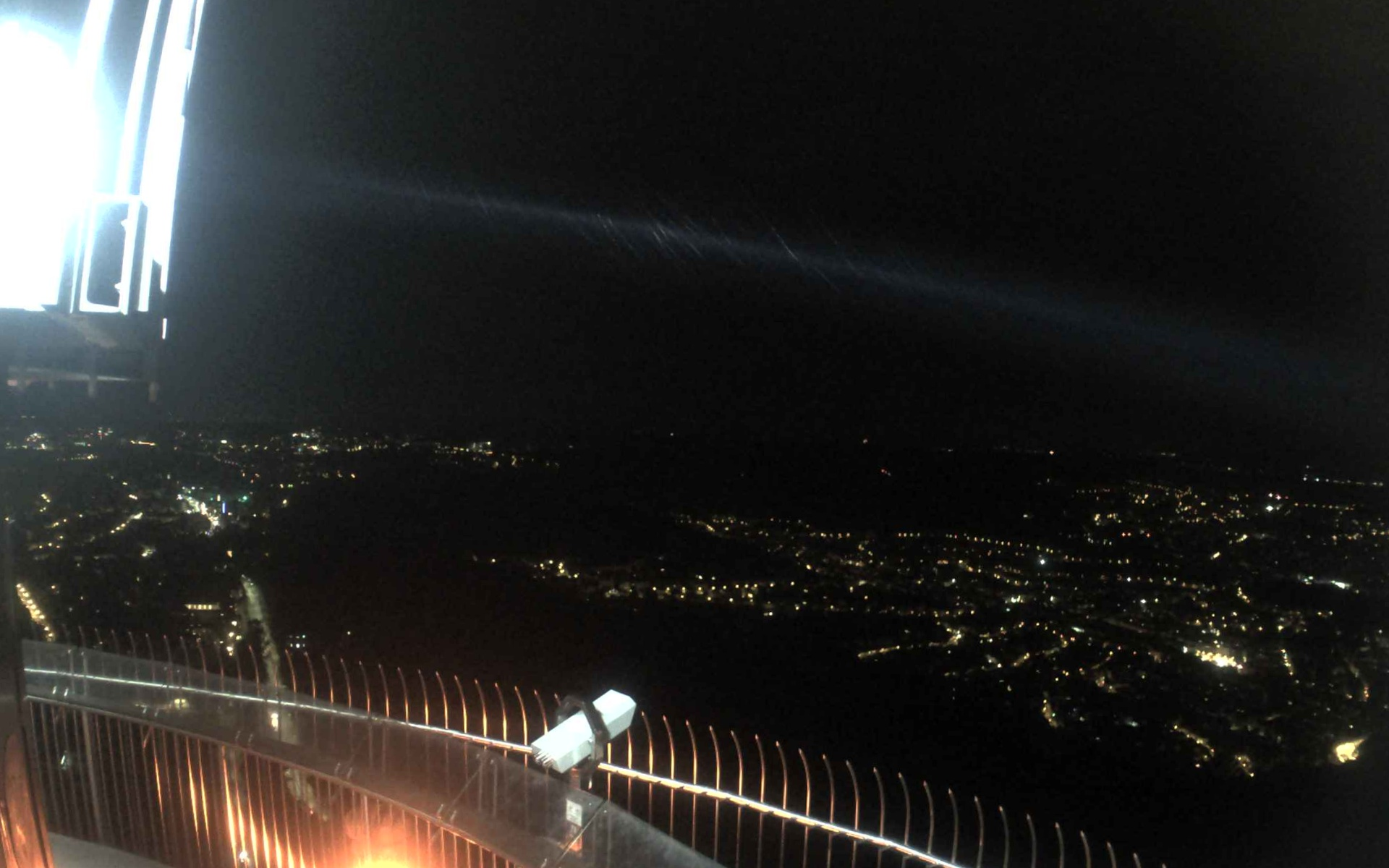 Stuttgarter Fernsehturm 217m (Aussichtsplatform 150m) Blick nach Westen